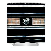 Classic Mercury Grill Emblem Shower Curtain