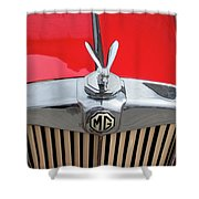 1936 Mg Ta Radiator And Mascot Shower Curtain