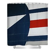 Classic Military Aircraft Abstract- Star 5 Shower Curtain