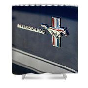 Classic Mustang Logo Closeup Shower Curtain