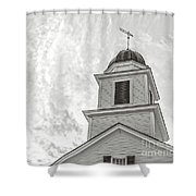 Classic New England Church Etna New Hampshire Shower Curtain