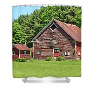 Classic Old Red Barn In Vermont Shower Curtain