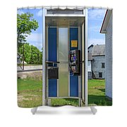 Classic Pay Phone Booth Shower Curtain