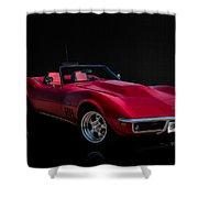 Classic Red Corvette Shower Curtain