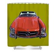 Classic Red Mercedes Benz 300 Sl Convertible Sportscar  Shower Curtain