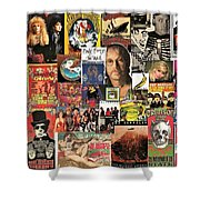 Classic Rock 2 Collage Shower Curtain