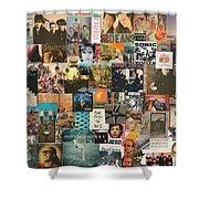 Classic Rock Lp Collage 1 Shower Curtain