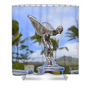Classic Rolls Royce Hood Ornament Shower Curtain