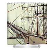 Classic Sail Ship Shower Curtain