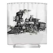 Classic Steam Shower Curtain by James Williamson