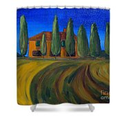 Classic Tuscan Sunset Shower Curtain