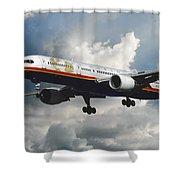 Classic Twa Boeing 757-231 Shower Curtain