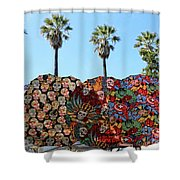 Classic Umbrellas Day Of The Dead  Shower Curtain