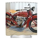 Classic Vintage Indian Motorcycle Red   # Shower Curtain
