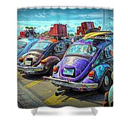 Classic Volkswagen Beetle - Old Vw Bug Shower Curtain