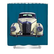 Classic White Mercedes Benz 300  Shower Curtain