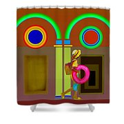 Classical Conundrun Shower Curtain
