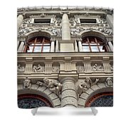 Classical Decorative Building Facade In Vienna Shower Curtain