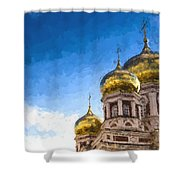 Intercession Cathedral In Saratov Russia Shower Curtain