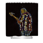 Classical Guitar Player Shower Curtain