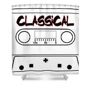 Classical Music Tape Cassette Shower Curtain