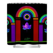 Classical Neon Shower Curtain