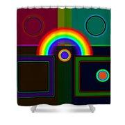 Classical Rainbow Shower Curtain