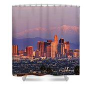 Classical View Of Los Angeles Downtown Shower Curtain