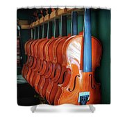 Classical Violins Shower Curtain