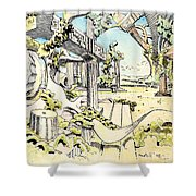 Classical Visitation Shower Curtain