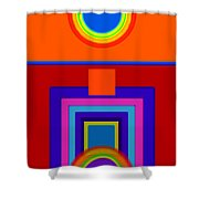 Classical Wheels Shower Curtain