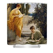 Classical Women Reading  Shower Curtain