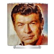Claude Akins, Vintage Hollywood Actor Shower Curtain