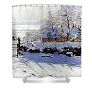 Claude Monet: The Magpie Shower Curtain