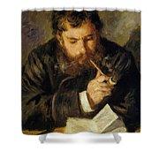 Claude Monet The Reader 1874 Shower Curtain