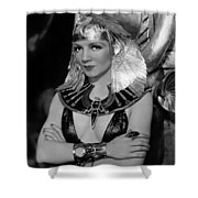 Claudette Colbert In Cleopatra 1934 Shower Curtain