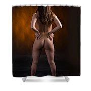 Claudia Nude Fine Art Print In Sensual Sexy Color 4864.02 Shower Curtain