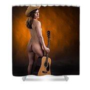 Claudia Nude Fine Art Print In Sensual Sexy Color 4875.02 Shower Curtain
