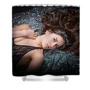 Claudia Nude Fine Art Print In Sensual Sexy Color 4884.02 Shower Curtain