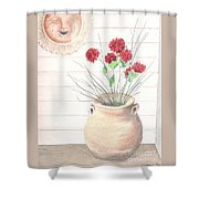Clay Pot Shower Curtain