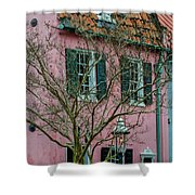 Clay Tile Roof In Charleston Shower Curtain