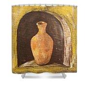 Clay Vase Shower Curtain