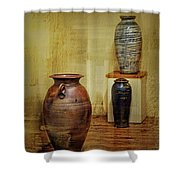 Clay - Wood Shower Curtain