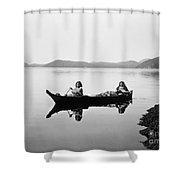 Clayoquot Canoe, C1910 Shower Curtain