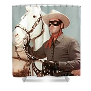 Claytn Moore The Lone Ranger Shower Curtain