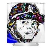 Clayton Kershaw La Dodger Shower Curtain