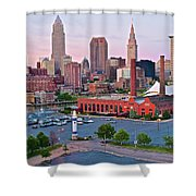 Cle Sunset View From The Shoreway Shower Curtain