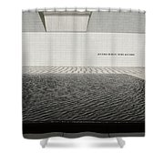 Clean Abstract Lines Of The Aga Khan Museum Facade With Black Po Shower Curtain