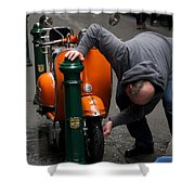 Clean Vespa Shower Curtain by Lee Stickels