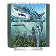 Cleansing Threat Shower Curtain